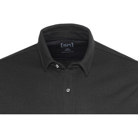 super.natural M's Comfort Piquet Shirt Jet Black